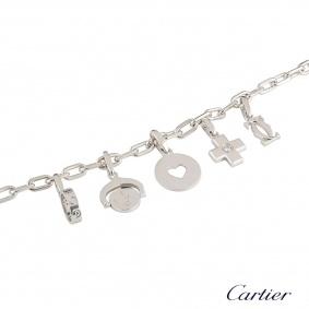 Cartier White Gold Diamond Charm Bracelet